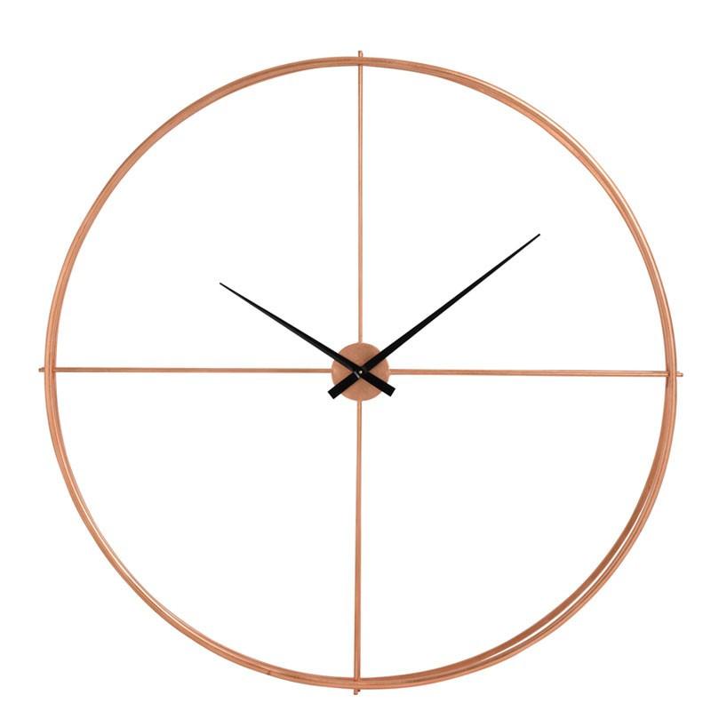 Horloge ronde taille M Métal cuivre - FANTINE