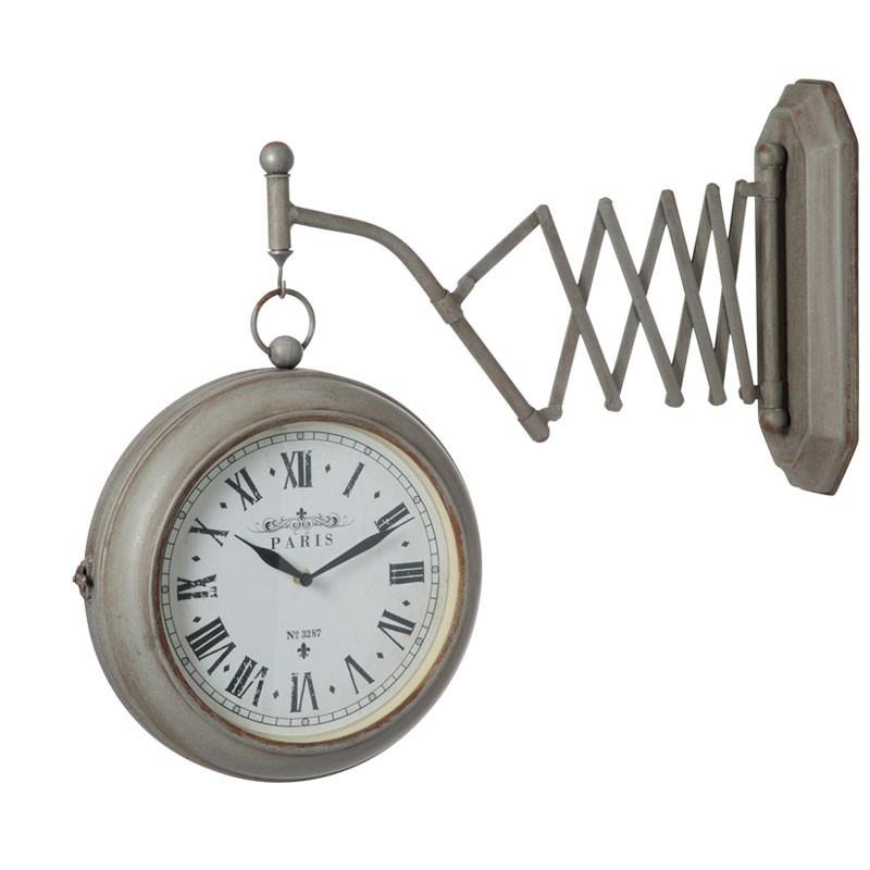 Horloge extensible Métal gris - ISAURE