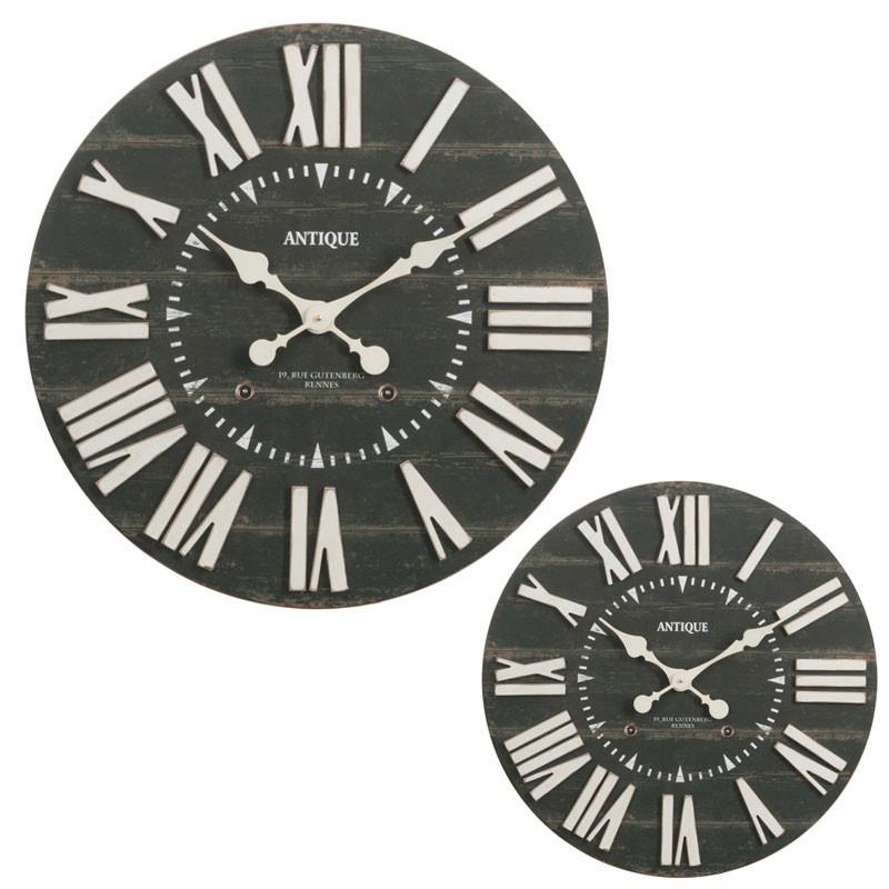 Duo d'horloges taille S Bois noir - SOHAN