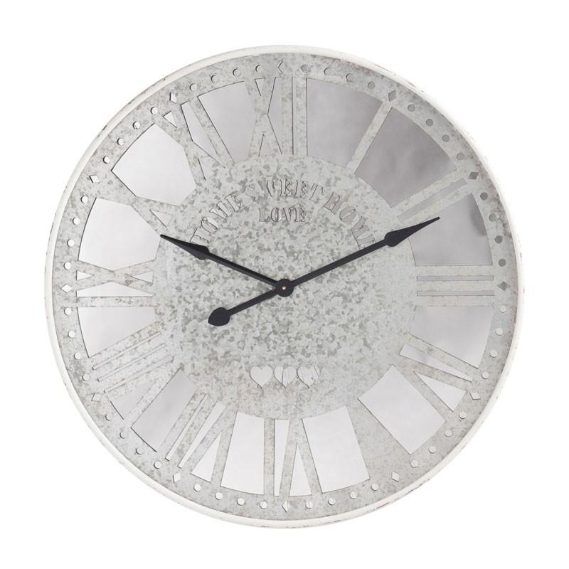 Horloge miroir Métal argent - RUNDI