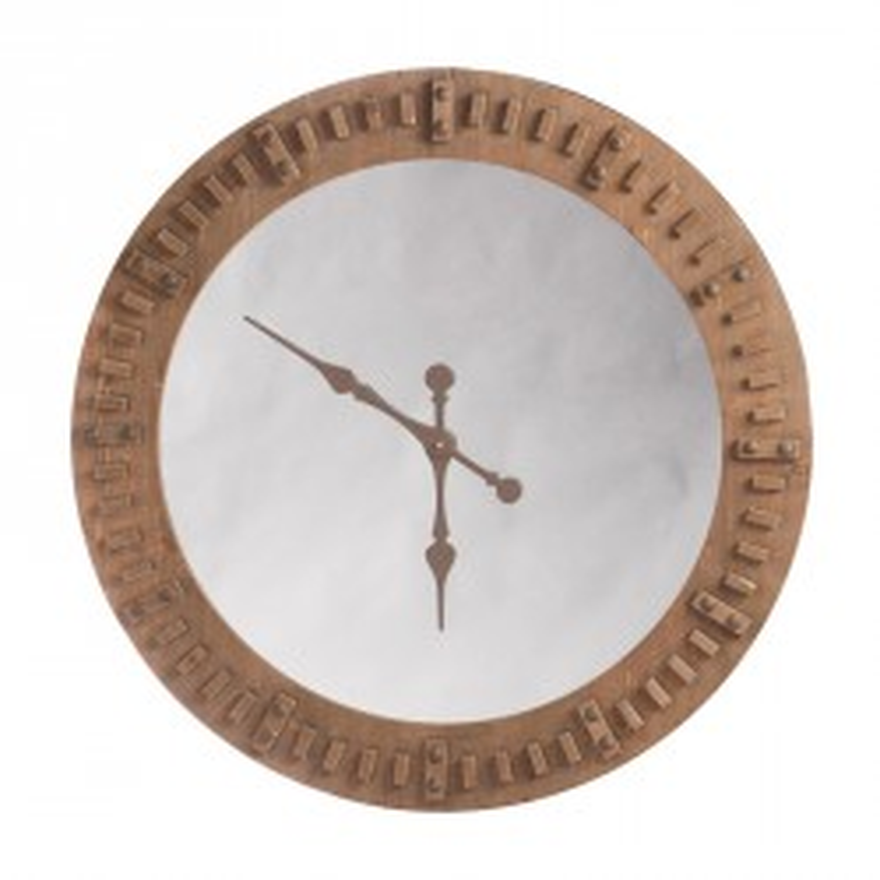 Horloge miroir Bois naturel - RUNDI