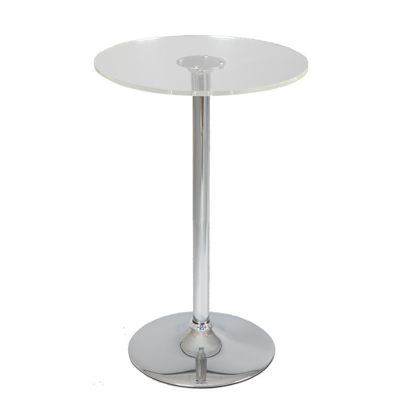 Table de bistrot mange debout verre esta univers salon - Table mange debout ronde ...