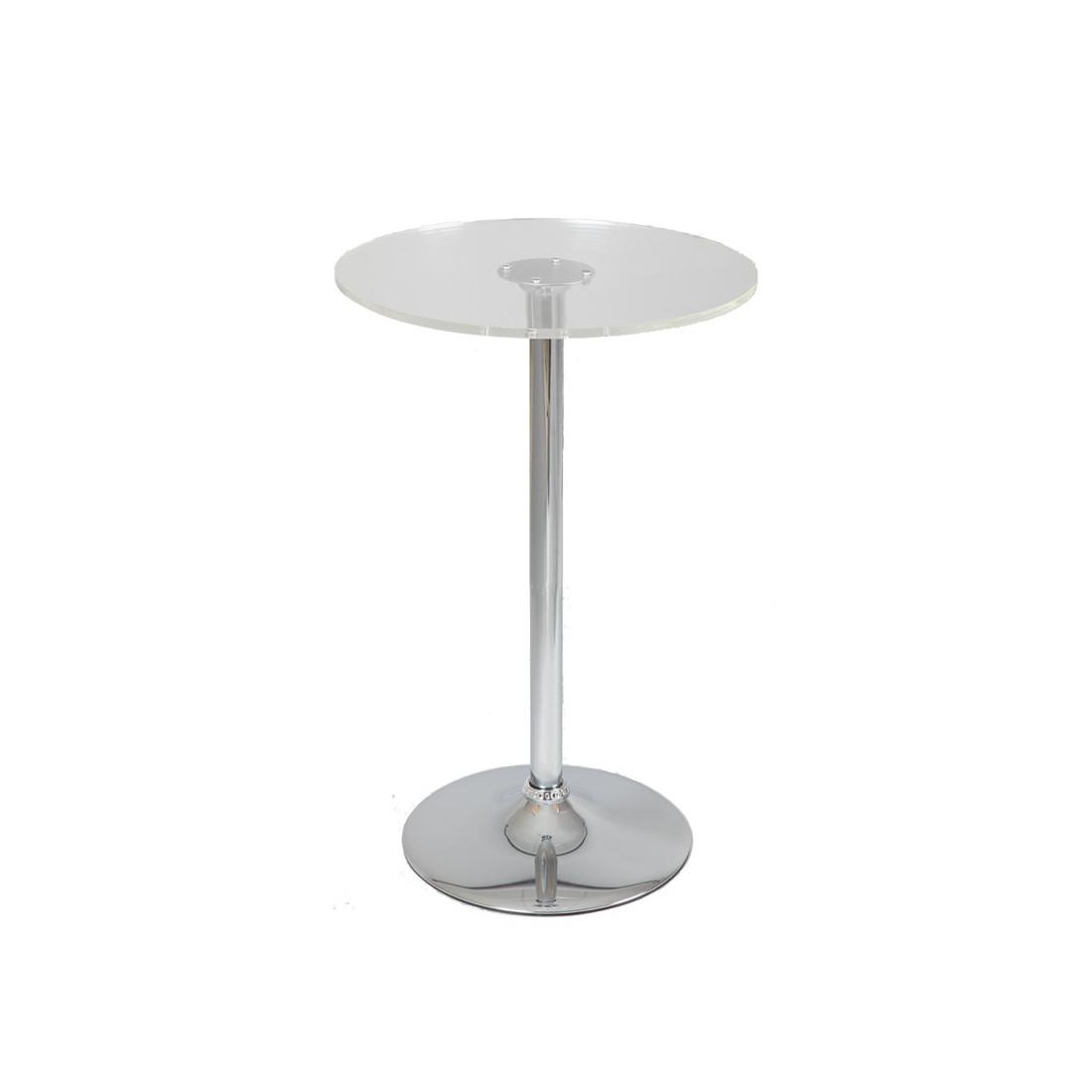 table de bistrot mange debout verre esta univers salon tousmesmeubles. Black Bedroom Furniture Sets. Home Design Ideas