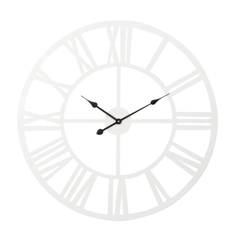 Horloge ronde taille M Métal blanc - ISATIS