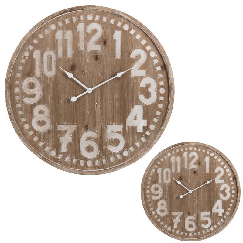 Duo d'horloges taille S Bois naturel - CHAMOI