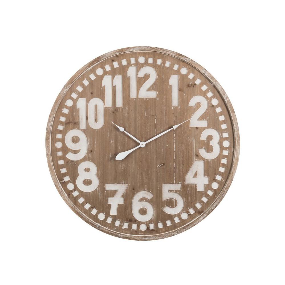 Horloge ronde taille M Bois naturel - CHAMOI