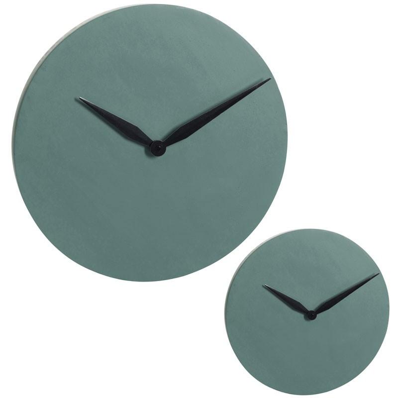 Duo d'horloges Ciment vert foncé - IMPALA