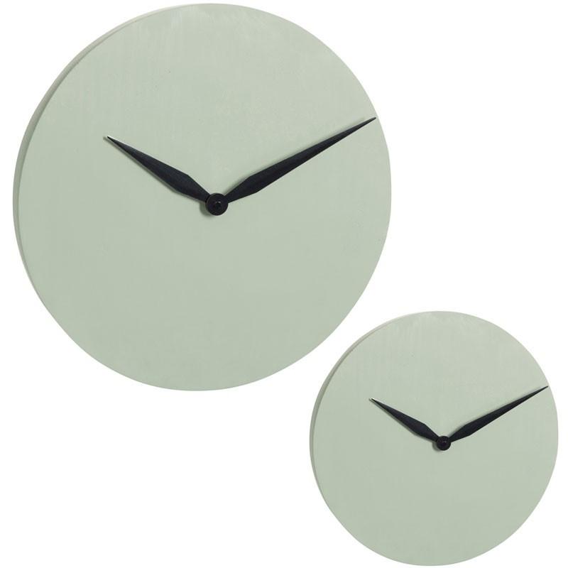 Duo d'horloges Ciment vert clair - IMPALA