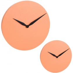 Duo d'horloges Ciment orange - IMPALA