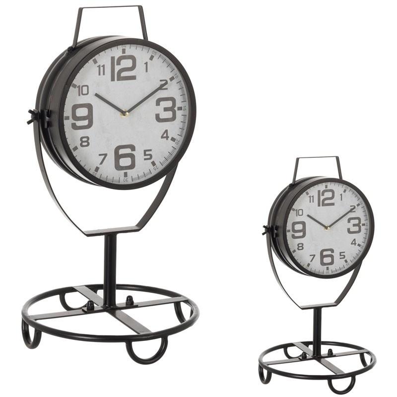 Duo d'horloges sur pied Métal noir - MOJAVE