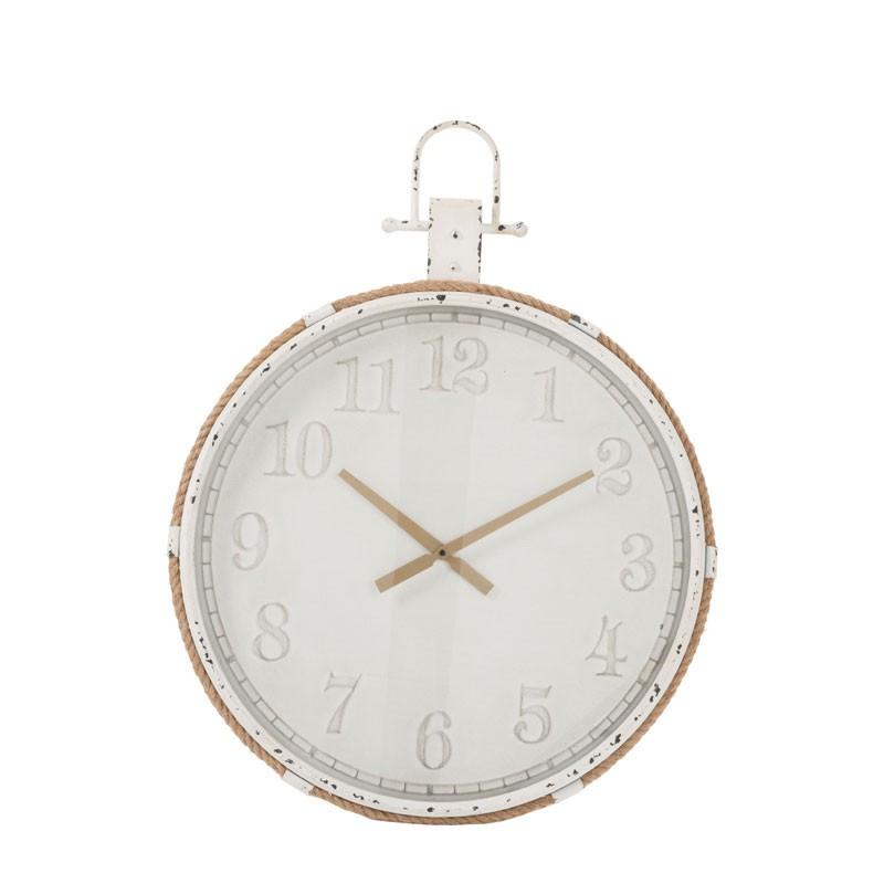 Horloge ronde taille S métal blanc - IBIS