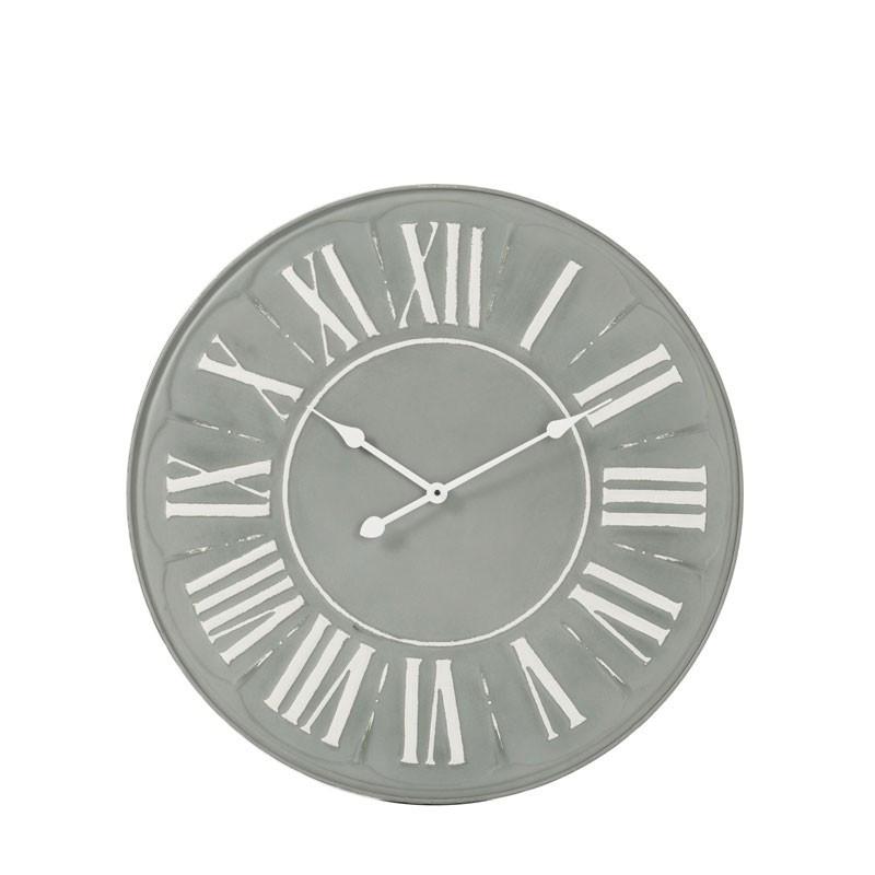 Horloge ronde taille S Métal gris - NANDOU