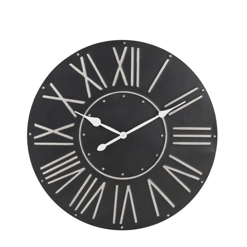 Horloge ronde taille M Métal noir - NANDOU