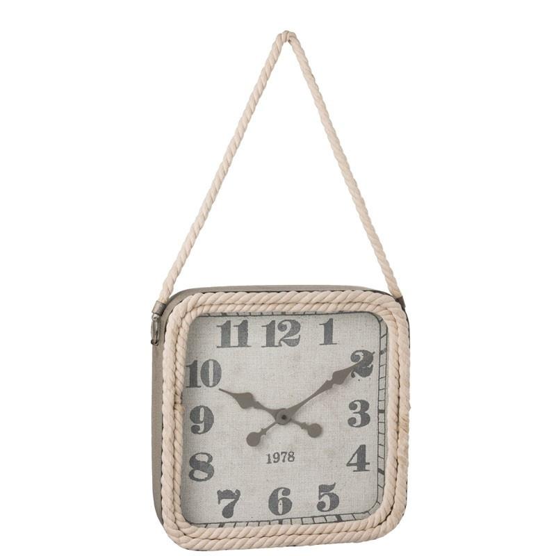 Horloge carré Métal gris taille S - OKAPI