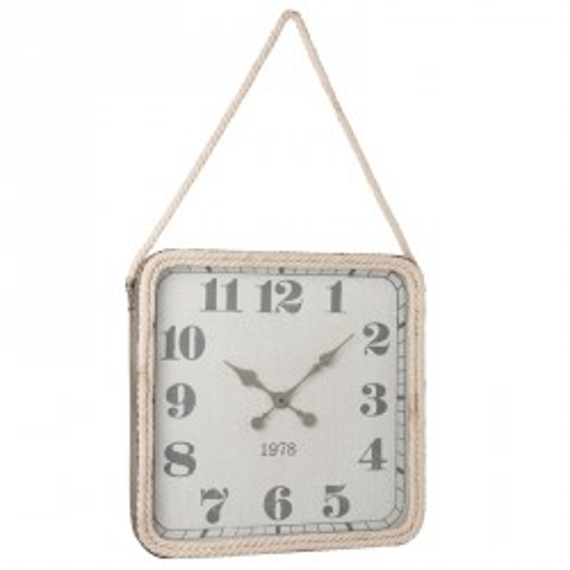 Horloge carré Métal gris taille M - OKAPI