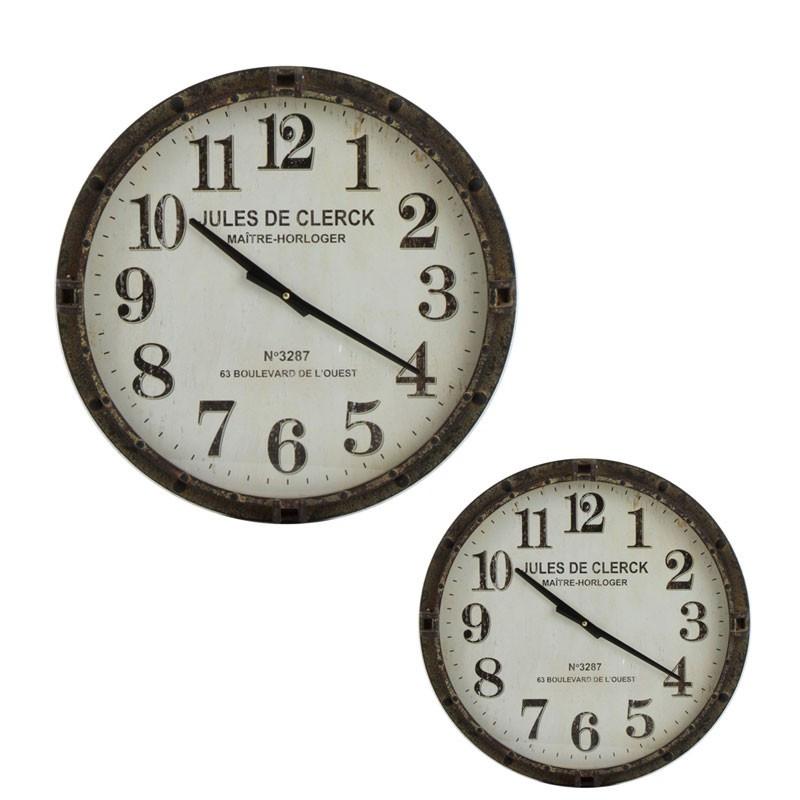 Duo d'horloges Métal marron taille S - ADDAX