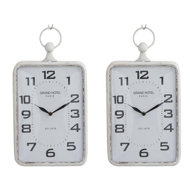 Duo d'horloges Métal blanc taille S - PECARI