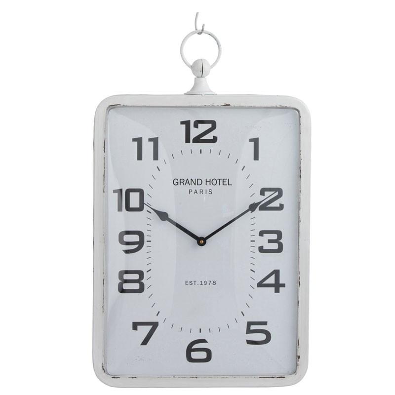 Horloge murale Métal blanc taille M - PECARI