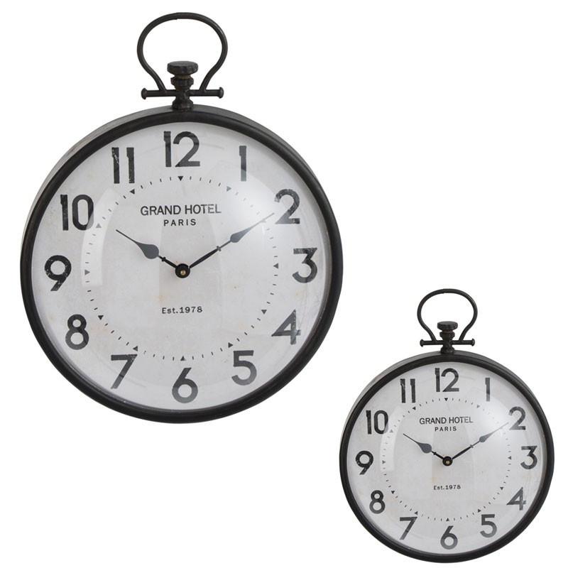 Duo d'horloges Métal noir taille S - PECARI