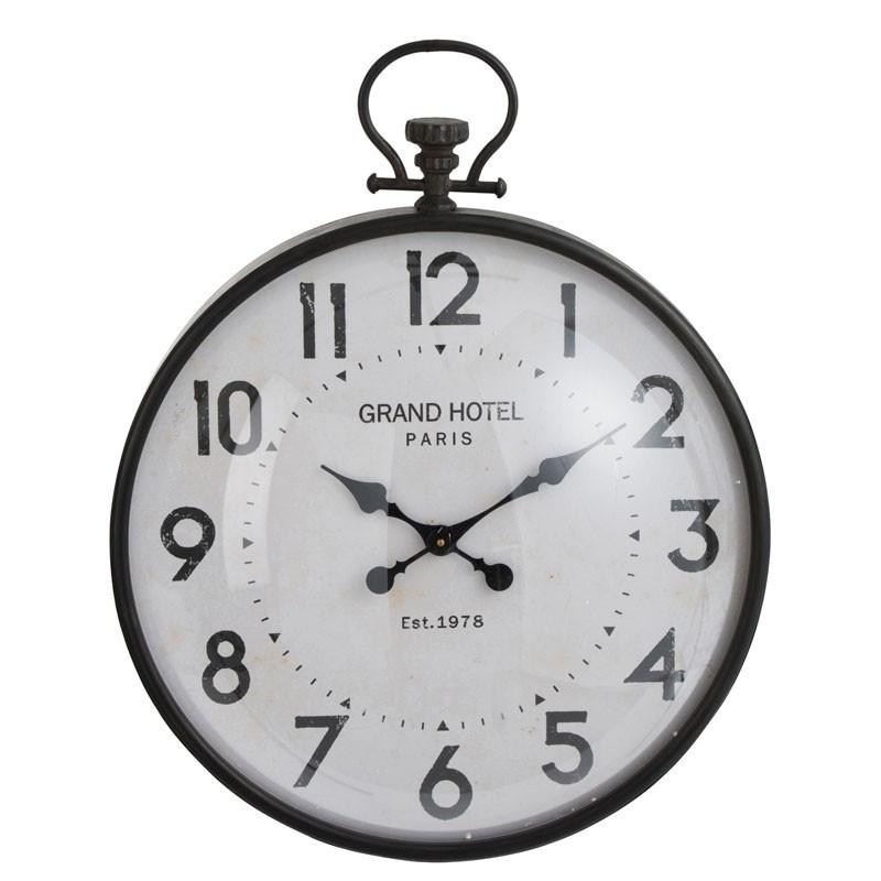Horloge murale Métal noir taille M - PECARI