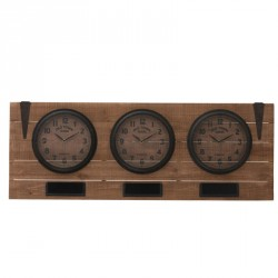 Horloge 3 parties Bois naturel - CABERU