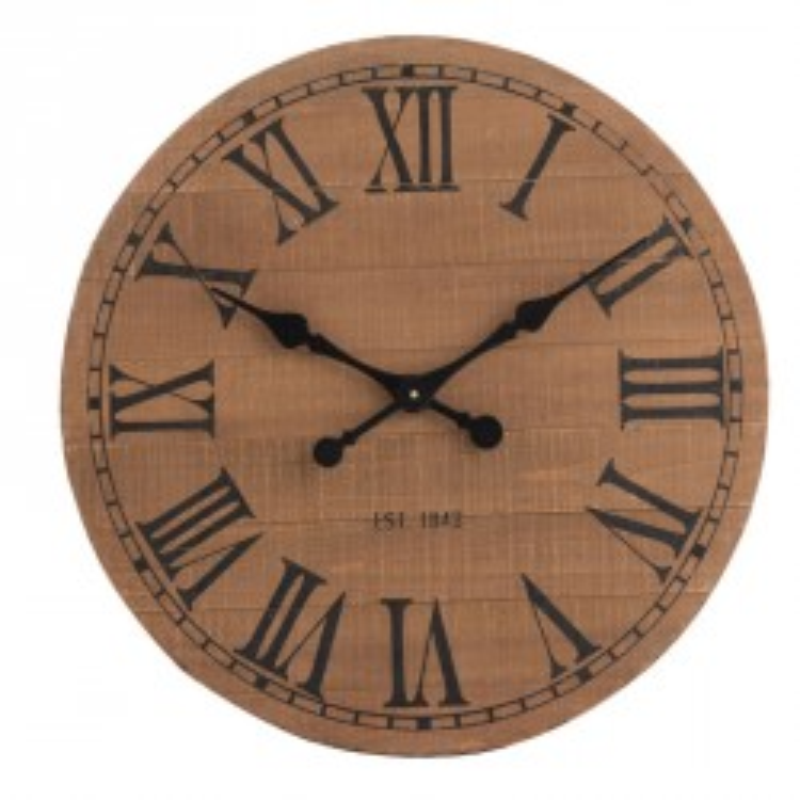 Horloge ronde Bois naturel taille S - SAPAJOU