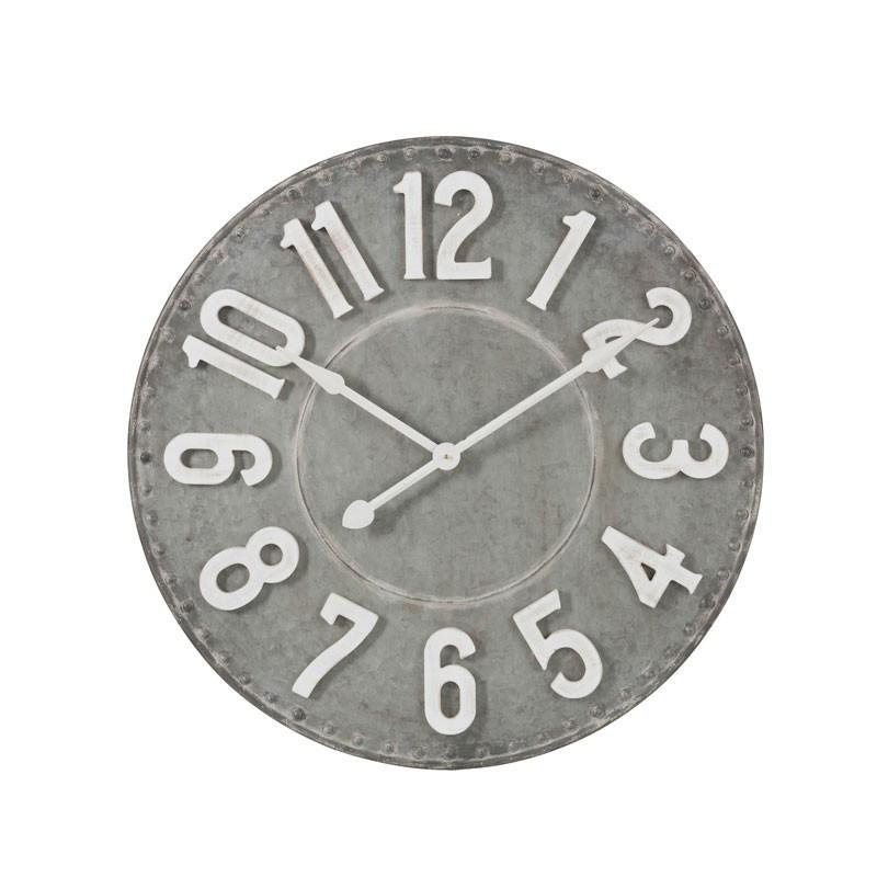 Horloge ronde Métal gris taille S - GÉLADA