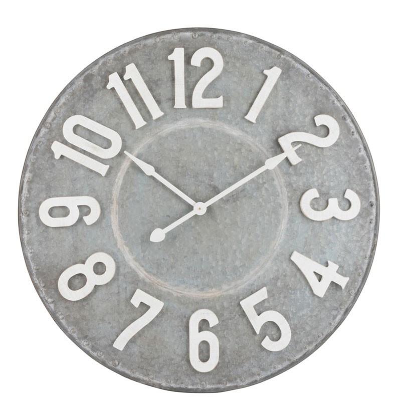 Horloge ronde Métal gris taille M - GÉLADA