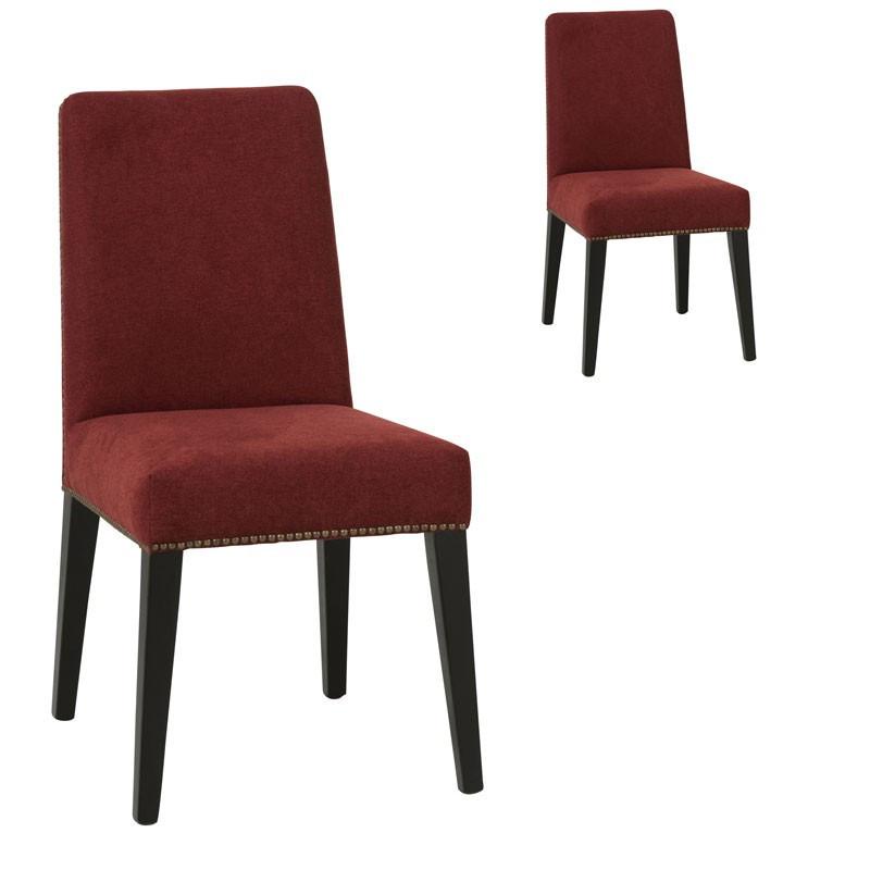 Duo de chaises en Velours Rouge - ARETHA
