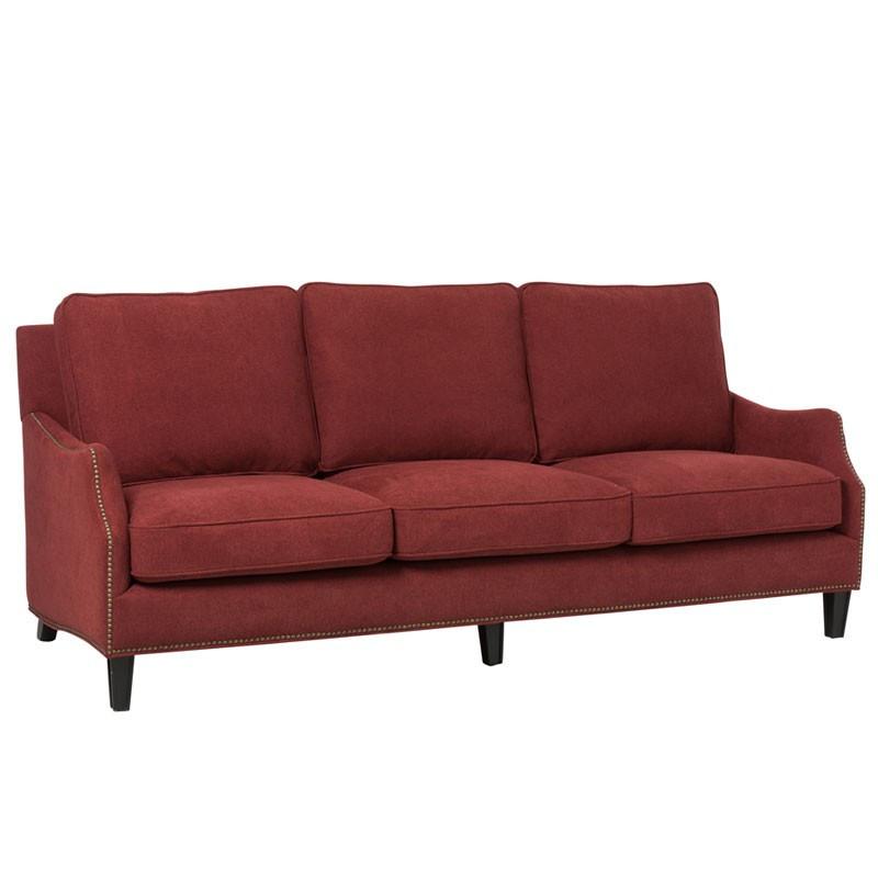 Canapé 3 places en Velours Rouge - ARETHA