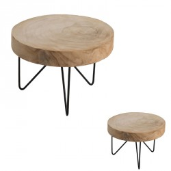 Duo de Tables d'appoints Bois/Métal - AYANA