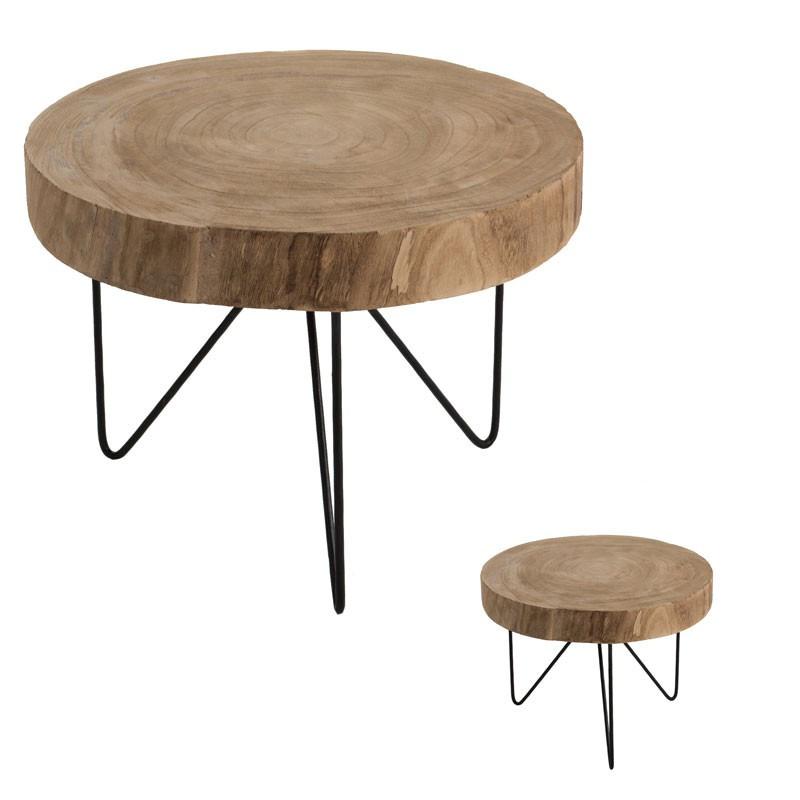 Duo de Tables d'appoints Bois/Métal - AYANA n°2