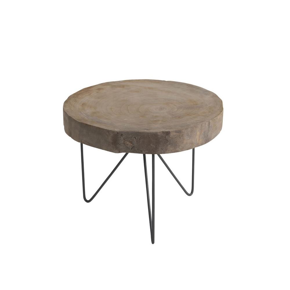 Duo de Tables d'appoints Bois/Métal - AYANA n°4