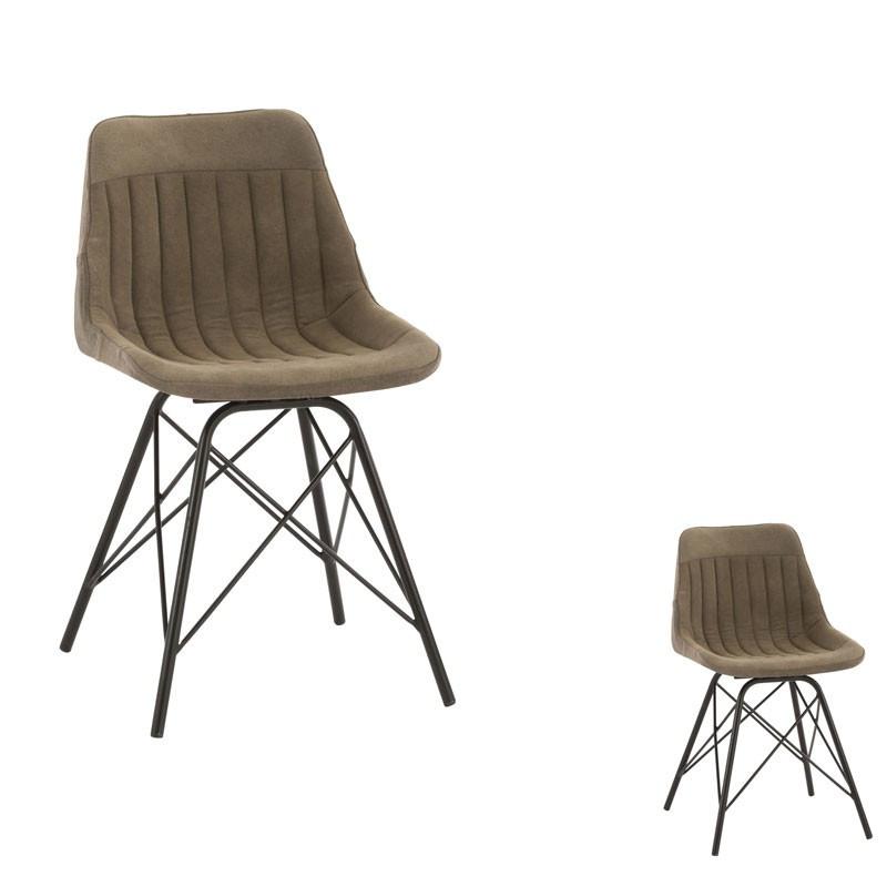 Duo de chaises kaki/noir - DEEJAY