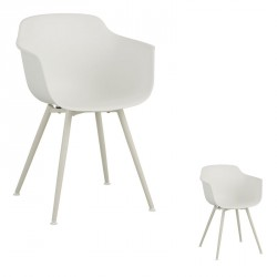 Duo de chaises Blanches - BRIONA