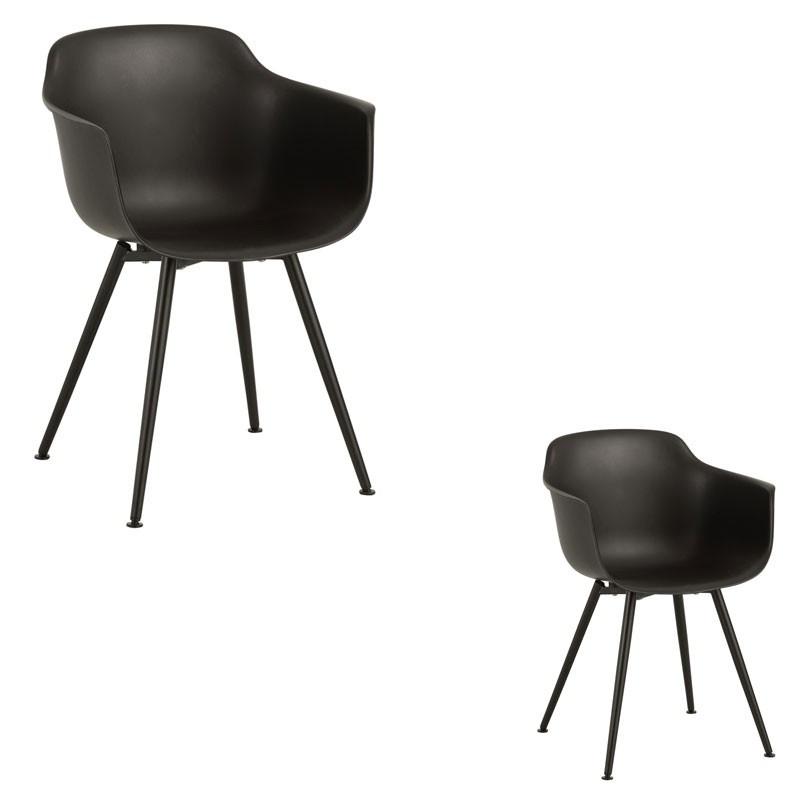 Duo de chaises Noires - BRIONA
