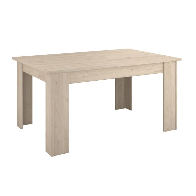Table de repas à allonge bois clair moderne OLIVER - Univers Salle à Manger : Tousmesmeubles