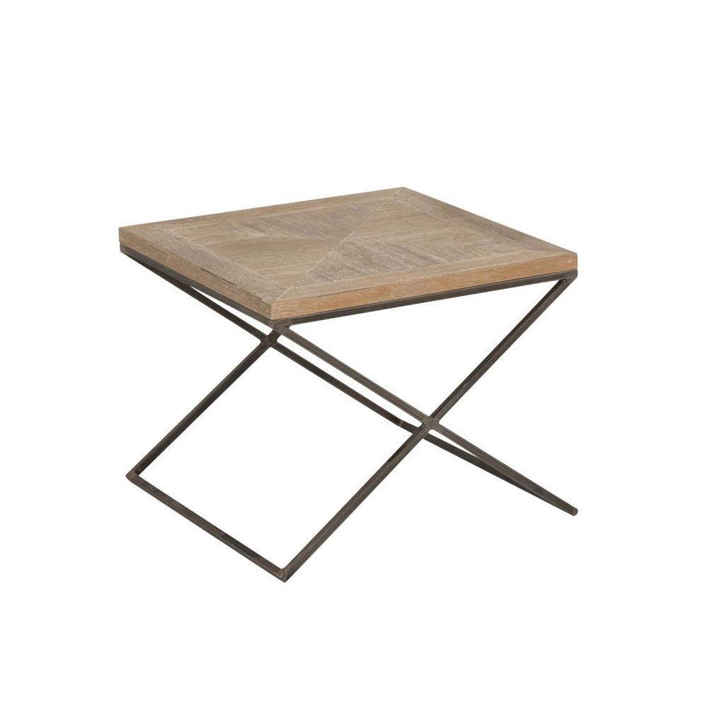 Table d'appoint carrée Bois/Métal - PIETRO