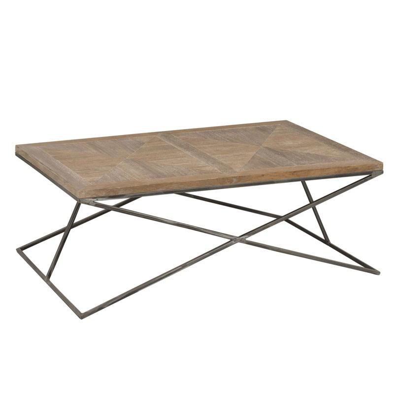 Table basse rectangulaire Bois/Métal - PIETRO