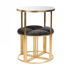 Table haute + tabourets en Métal or - SCINTILL