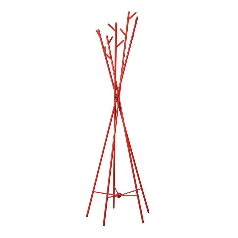 Portemanteaux Métal acier Rouge laqué - Univers Décoration : Tousmesmeubles