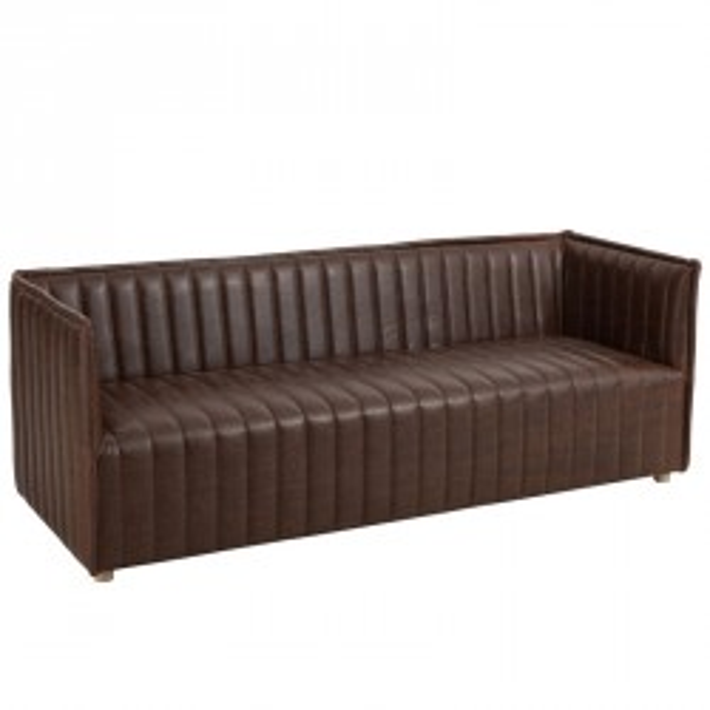 Canapé 3 personnes en Cuir marron - AYNOA