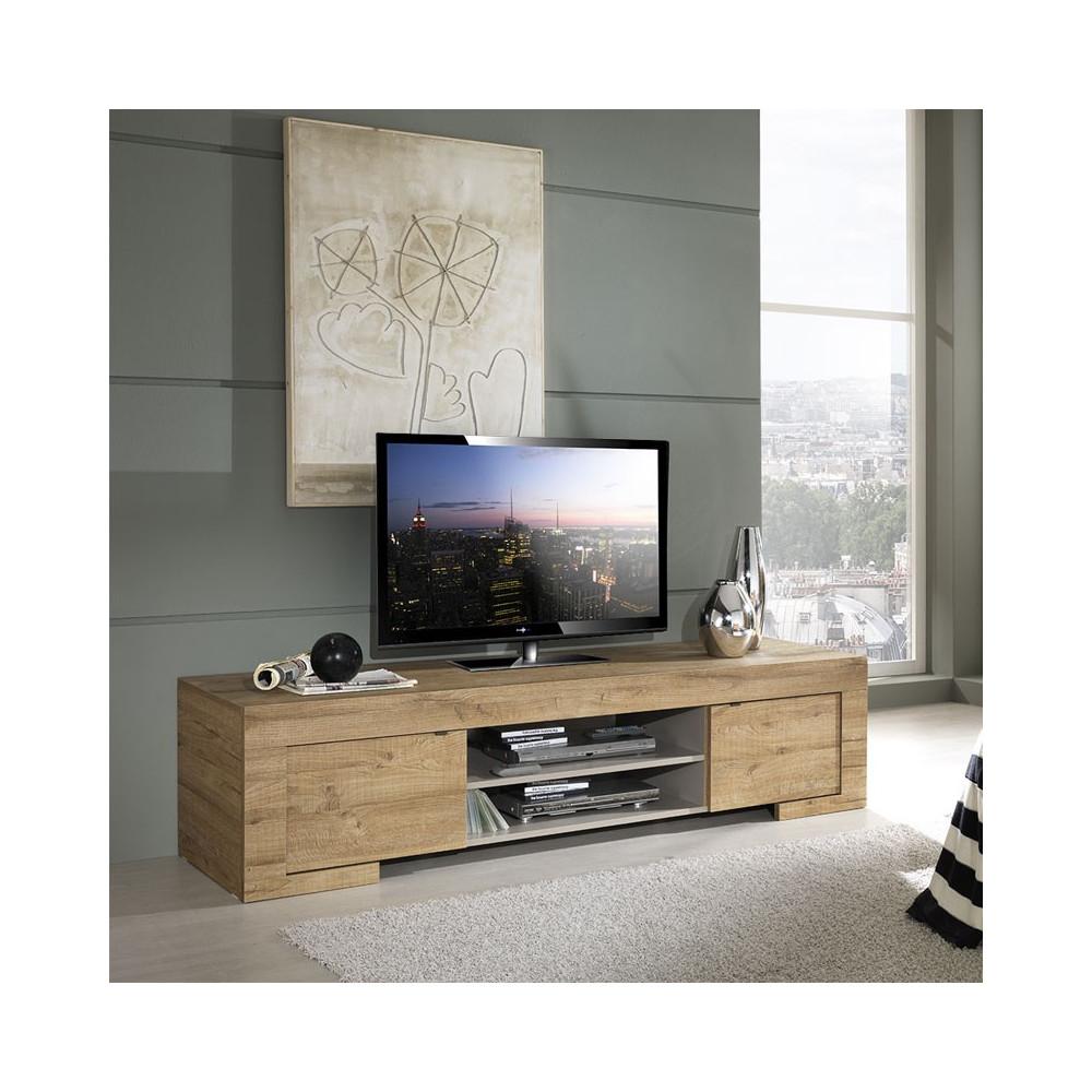 Meuble TV 2 portes 2 niches - NAPLES