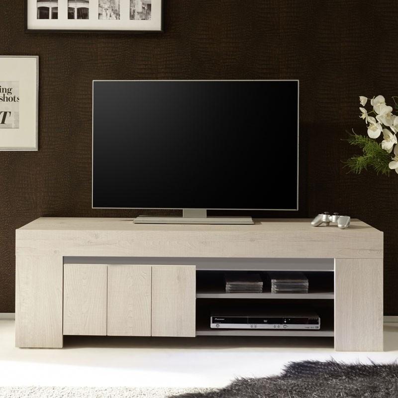 Meuble TV 1 porte Chêne Beige - ALMATI