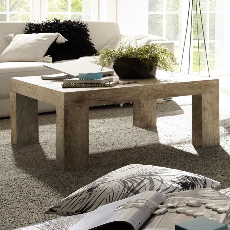Table basse carrée Chêne Moyen - ALMATI