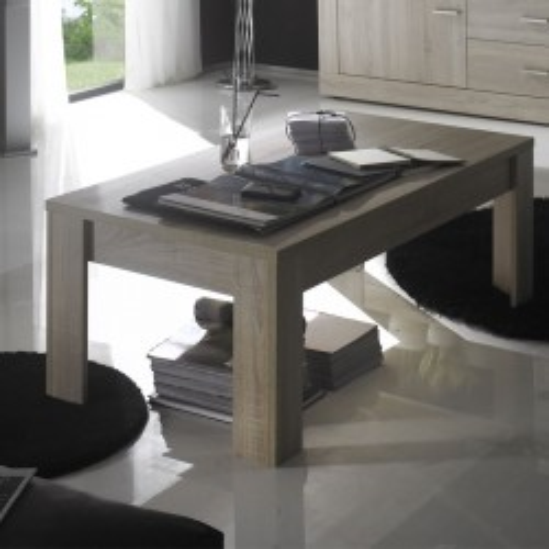 Table basse 1 plateau Chêne blond - RUBBEN