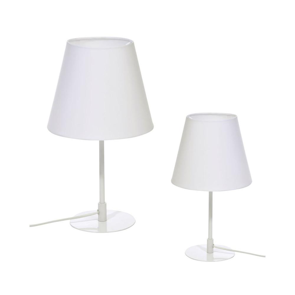 Duo de lampes de chevet Métal blanc - SIBIA
