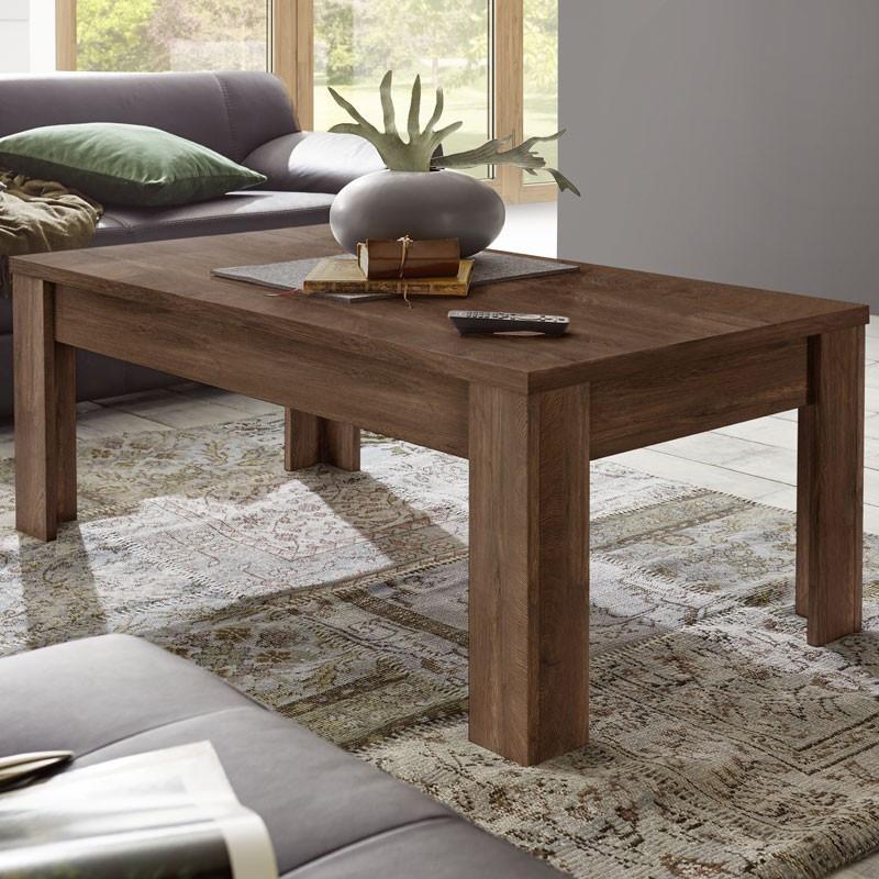 Table basse rectangulaire Chêne foncé - RIMINI