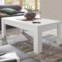 Table basse rectangulaire blanc mat - RIMINI