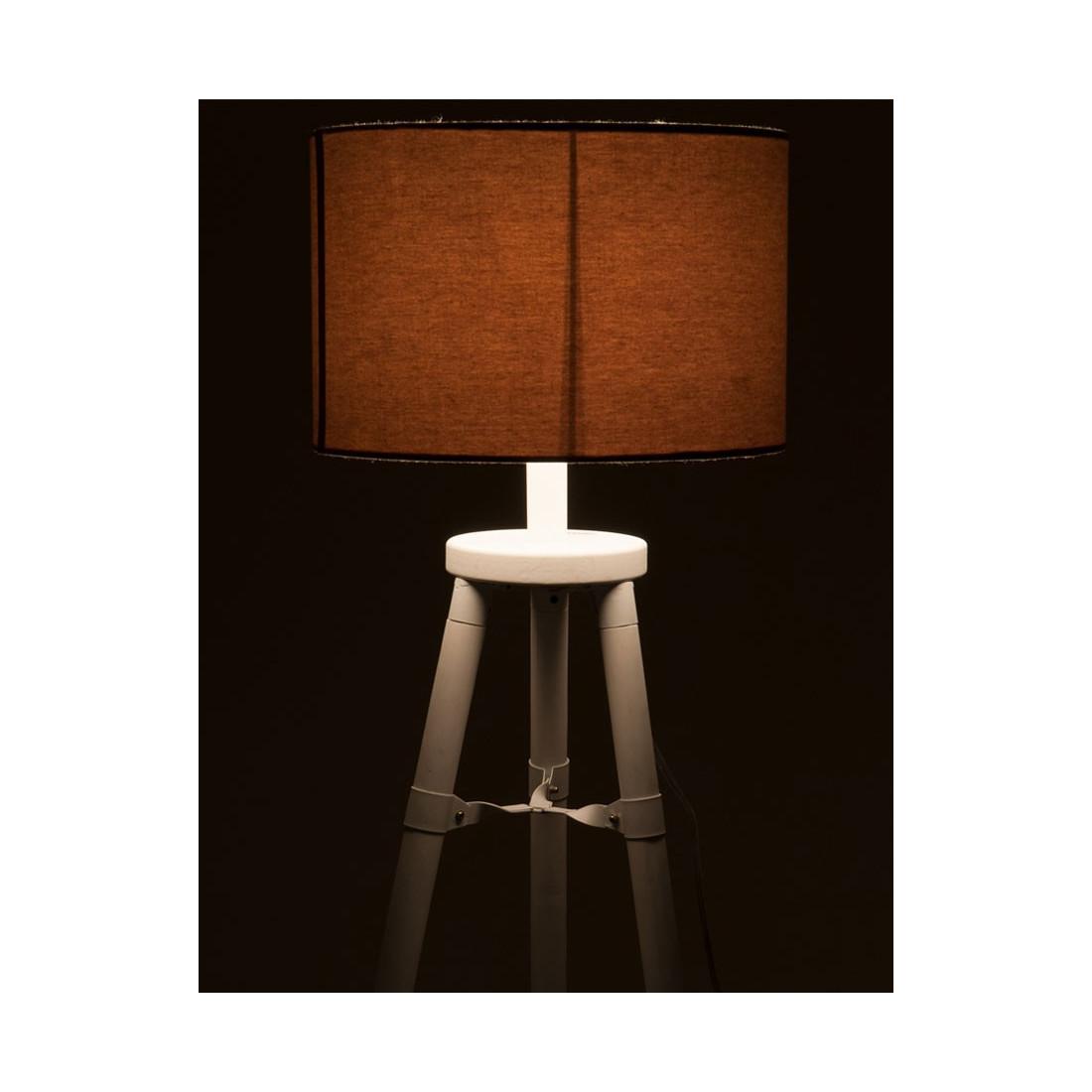 lampe de bureau tr pied bois blanc fauvette univers de. Black Bedroom Furniture Sets. Home Design Ideas